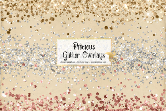 Print on Demand: Precious Glitter Overlays Gráfico Ilustraciones Por Digital Curio