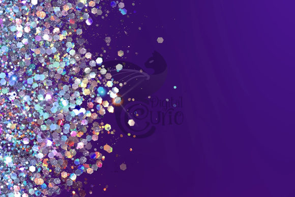 Purple Holographic Glitter Backgrounds Graphic Download