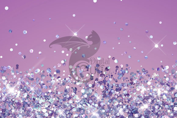 Purple Holographic Glitter Backgrounds Graphic Item