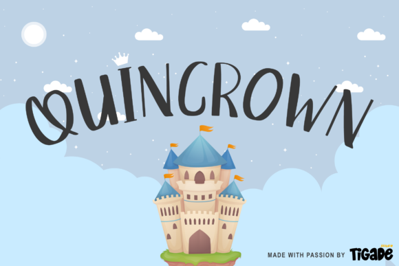 Print on Demand: Quincrown Display Font By Tigade std