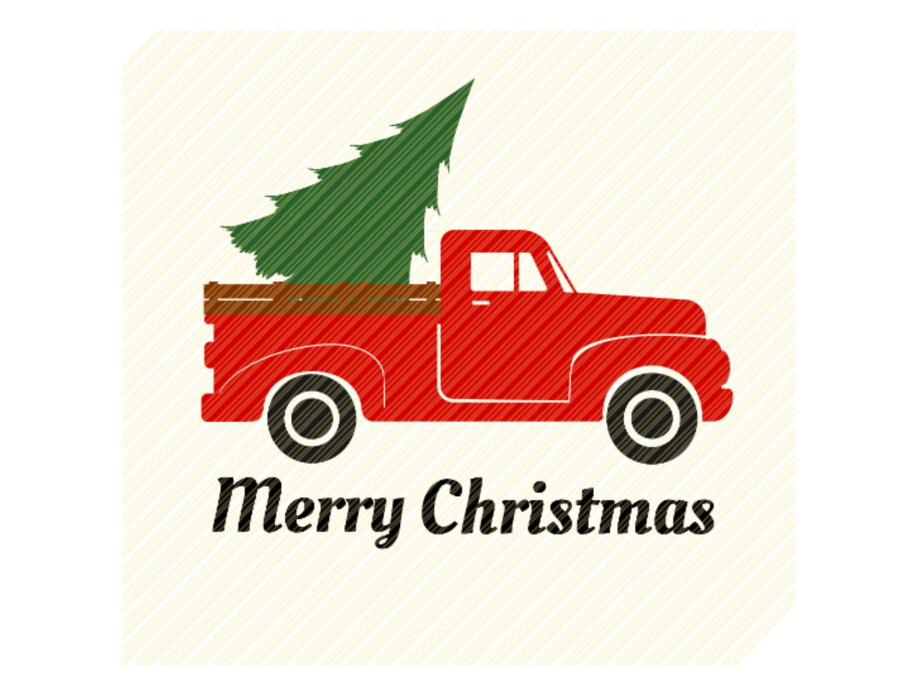 Red Vintage Truck With Christmas Tree Graphic By Svgplacedesign Creative Fabrica