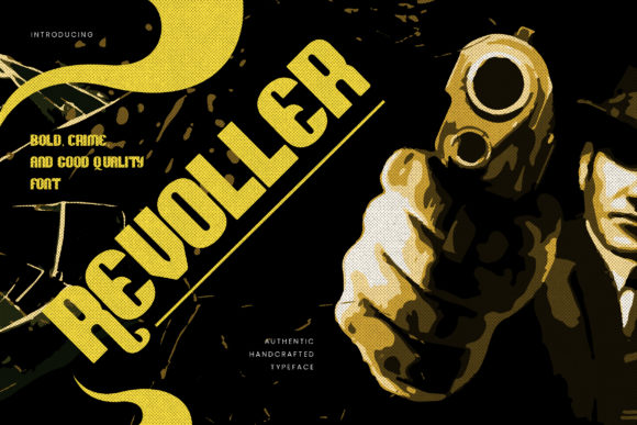 Print on Demand: Revoller Display Font By naulicrea