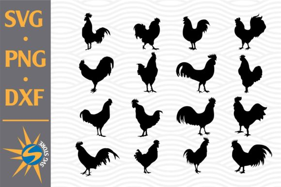 Print on Demand: Rooster Silhouette Graphic Crafts By SVGStoreShop
