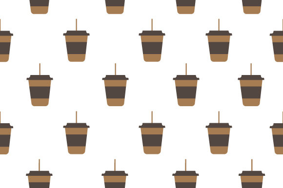 Print on Demand: Seamless Pattern Cup Coffee Graphic Patterns By Muhammad Rizky Klinsman