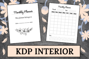 Print on Demand: Simple Monthly Planner | KDP Interior Graphic KDP Interiors By KDP Mastermind