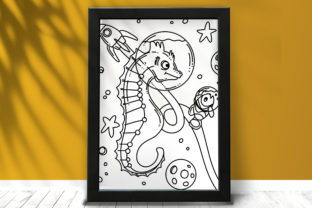 Print on Demand: Space Sea Horse Coloring Page Graphic Coloring Pages & Books Kids By stanosh 6
