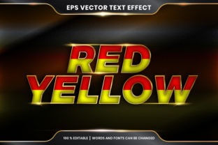Text Effect in 3D Red Yellow Words Graphic Add-ons By visitindonesia