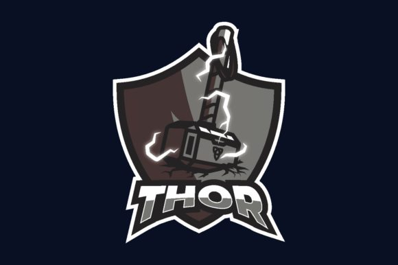Thor Illustration Logo Graphic Vector Graphic Logos By Alexandra143