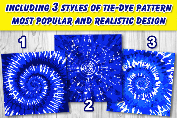Tie-Dye Patterns Brushes for Procreate Graphic Download
