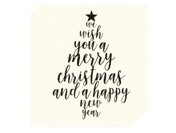 Print on Demand: We Wish You a Merry Christmas Tree SVG Graphic Crafts By SVGPlaceDesign