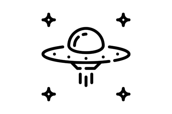 Print on Demand: Alien Spaceship Graphic Icons By khld939