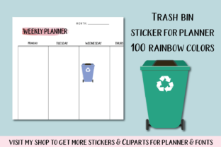 100 Garbage Clipart, Trash Clip Art Graphic Objects By Aneta Design
