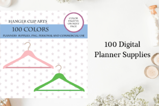 100 Hanger Clip Art, Laundry Stickers Graphic Objects By Aneta Design