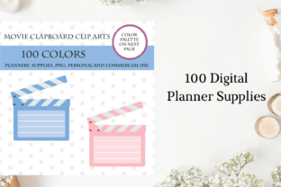 100 Movie Clapboard Clipart, Movie Theat Graphic Objects By Aneta Design