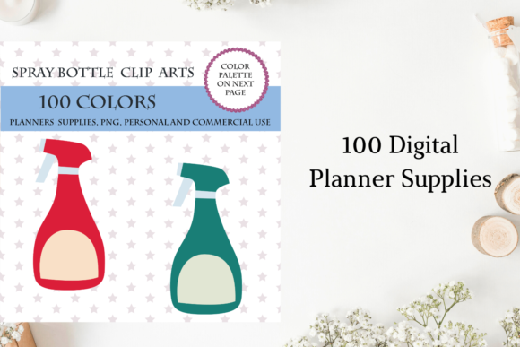 100 Spray Bottle Clip Art, Cleaning Clip Graphic Objects By Aneta Design
