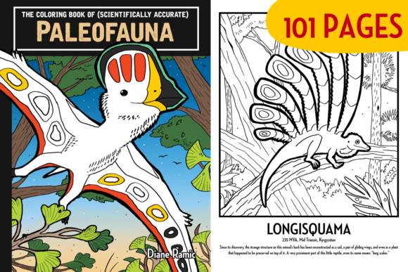 101 Paleofauna Coloring Book Pages Graphic Coloring Pages & Books Kids By dianeramic