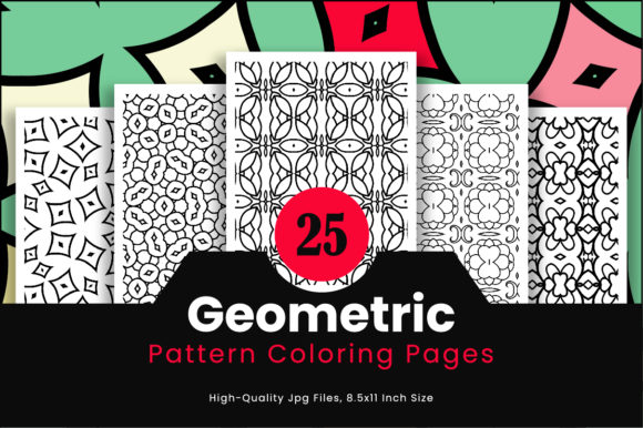 Print on Demand: 25 Adult Pattern Coloring Pages Graphic Coloring Pages & Books Adults By Riduwan Molla