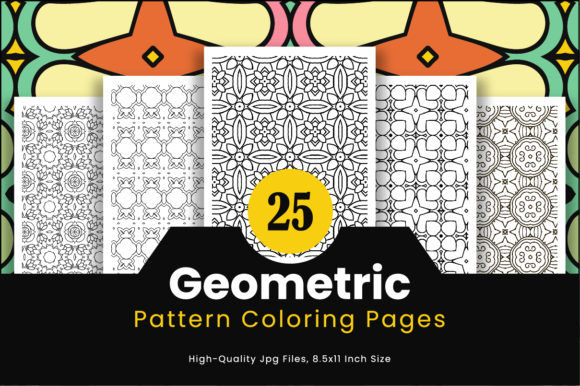 Print on Demand: 25 Geometric Adult Coloring Pattern Graphic Coloring Pages & Books Adults By Riduwan Molla