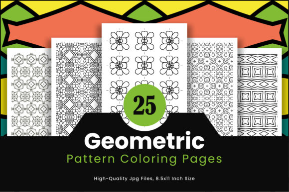 Print on Demand: 25 Geometric Pattern Pages Design Graphic Coloring Pages & Books Adults By Riduwan Molla