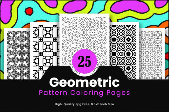 Print on Demand: 25 High Quality Pattern Design Graphic Coloring Pages & Books Adults By Riduwan Molla