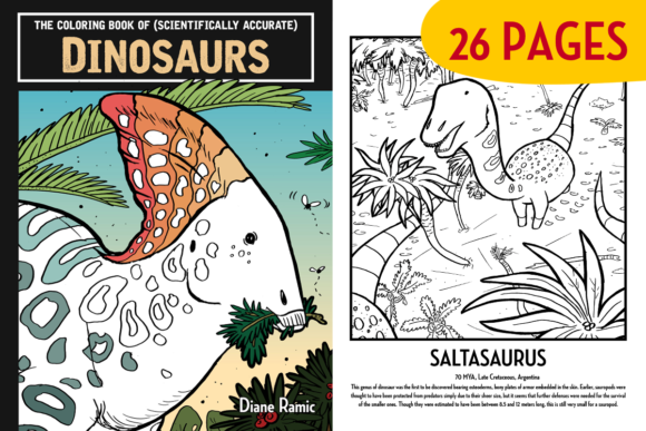 26 Educational Dinosaur Coloring Pages Graphic Coloring Pages & Books Kids By dianeramic