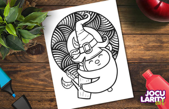 3 Animals Halloween Coloring Pages Graphic Download