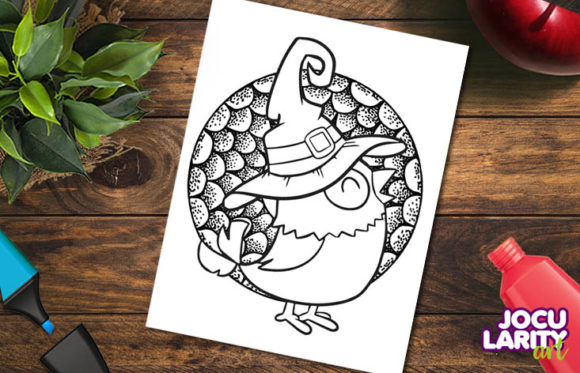 3 Animals Halloween Coloring Pages Graphic Item