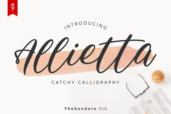 Print on Demand: Allietta Script & Handwritten Font By TheSundoro