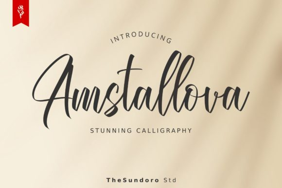Print on Demand: Amstallova Script & Handwritten Font By TheSundoro