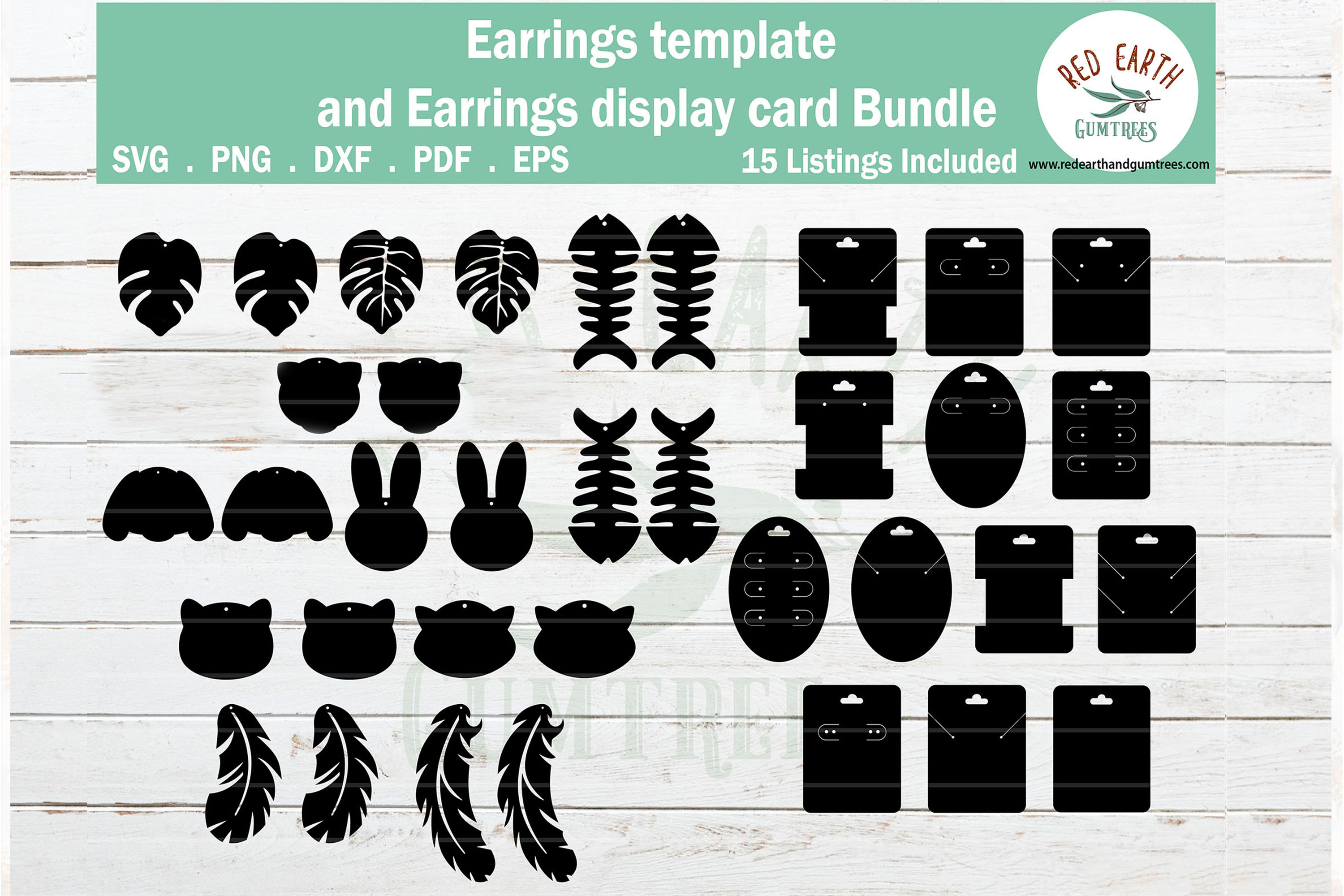 Animals Faux Earrings SVG File
