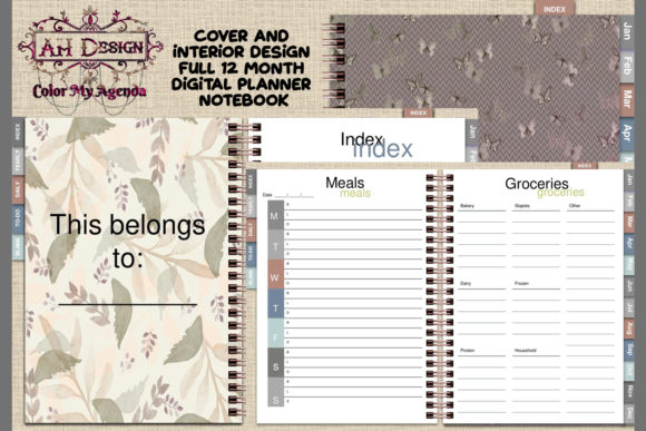 Autumn Butterflies Digital Planner Graphic Graphic Templates By AHDesign
