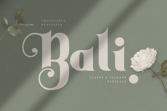 Print on Demand: Bali Serif Font By naulicrea
