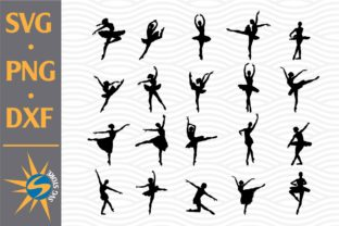 Print on Demand: Ballet Silhouettes Graphic Crafts By SVGStoreShop