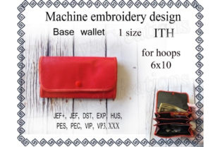 Base Wallet Sewing & Crafts Embroidery Design By ImilovaCreations
