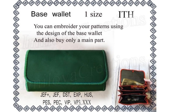 Base Wallet Embroidery