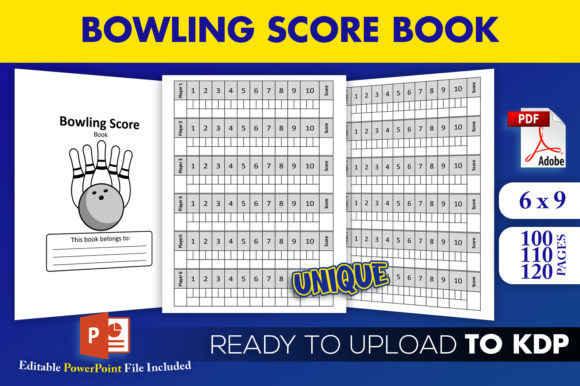Print on Demand: Bowling Score Book KDP Interior Template Graphic KDP Interiors By Beast Designer