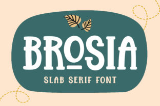 Print on Demand: Brosia Slab Serif Font By Subectype