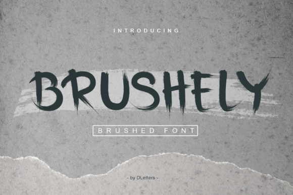 Print on Demand: Brushely Display Font By DLetters.std