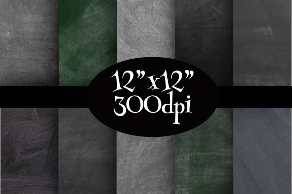 Print on Demand: Chalkboard Digital Paper Pack Graphic Backgrounds By Party Pixelz