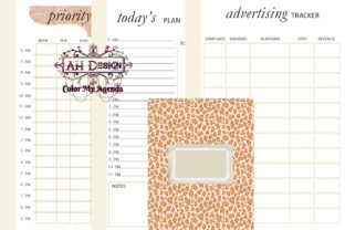 Chic Lady Printable Business Planner Graphic Print Templates By AHDesign