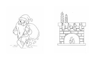 Christmas Coloring Pack - Part 1 Graphic Coloring Pages & Books Kids By POD