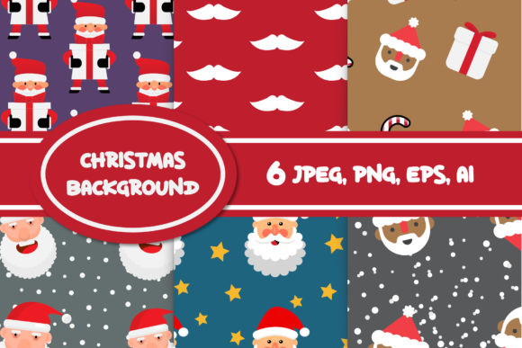 Print on Demand: Christmas Seamless Background for Diy Graphic Patterns By IsaraDesign