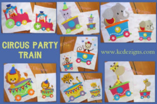 Circus Party Train Full Set Circus & Clowns Embroidery Design By karen50 1