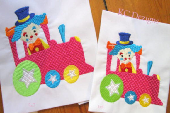 Circus Party Train Full Set Circus & Clowns Embroidery Design By karen50 - Image 2