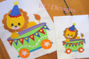 Circus Party Train Full Set Circus & Clowns Embroidery Design By karen50 6