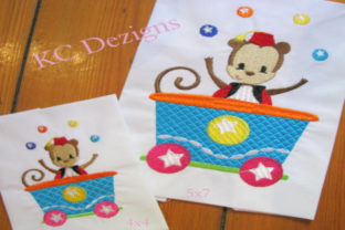 Circus Party Train Full Set Circus & Clowns Embroidery Design By karen50 7