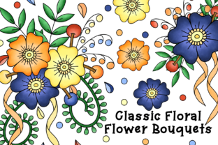 Print on Demand: Classic Floral Flower Bouquets Clipart Graphic Illustrations By Lilyat Lane