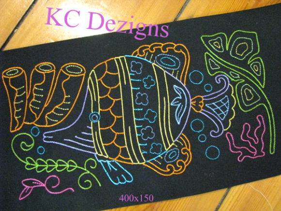 Colourline Fish 02 Fish & Shells Embroidery Design By karen50