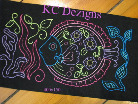 Colourline Fish 06 Fish & Shells Embroidery Design By karen50