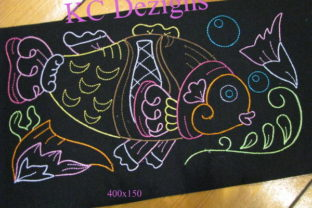 Colourline Fish 07 Fish & Shells Embroidery Design By karen50